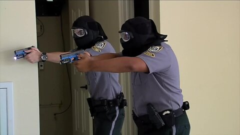 Young students reenact a day in the life of a police officer as Palm Beach Gardens hosts competition