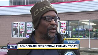 Voters react to Democratic presidential primary today