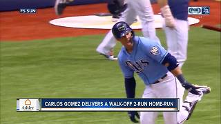 Slumping Carlos Gomez homers in 9th inning, Tampa Bay Rays beat Minnesota Twins 8-6 for series sweep - Video