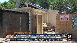 Reward offered in Coconut Charlie's fire - Video