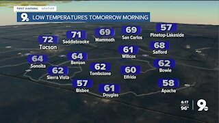 Smoky skies and above-average temperatures continue to finish the week