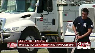 Semi truck driver electrocuted in Catoosa