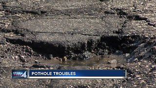 Pothole Problems: Temperature swings creating a number of potholes across Milwaukee