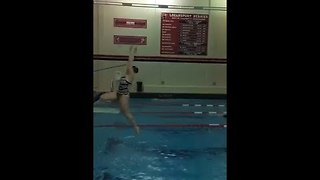 High Schooler's Diving Fail Results in Face Plant - Video