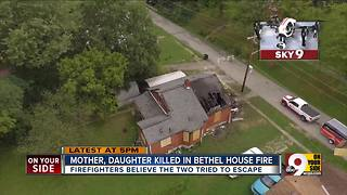 Mother, daughter killed in Bethel, Ohio house fire - Video