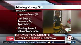 Police searching for missing 11-year-old Speedway girl, last seen Monday