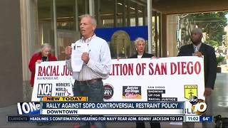 Rally against SDPD restraint policy - Video