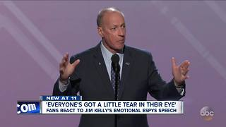 Buffalo Bills legend Jim Kelly awarded Jimmy V ESPY - Video