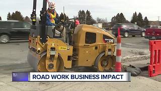 Macomb County businesses feeling the pinch as road work impacts customers - Video