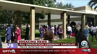 FAU graduation ceremony canceled over credible threat of shooting - Video