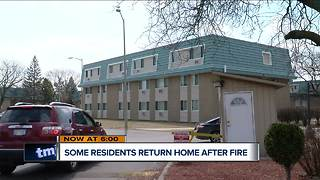 Residents return home after fire at apartment complex - Video