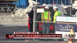 Worker dead after incident at Garmin construction site in Olathe - Video