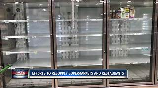 Efforts to resupply supermarkets and restaurants - Video