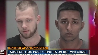 Suspects lead Pasco Deputies on 100+MPH chase - Video