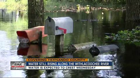 Water still rising along the Withlachoochee River