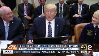 ACLU sues Trump over transgender military ban - Video