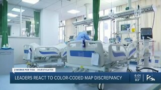 Leaders react to color-coded map discrepancy