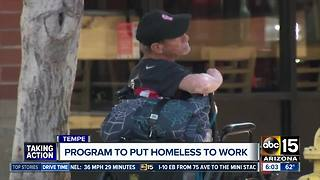 Tempe hoping to find work for the homeless - Video