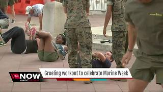 Grueling workout to celebrate Marine Week - Video