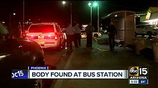 Body found at bus station in Phoenix - Video