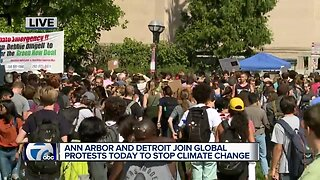 Ann Arbor, Detroit join global protests to stop climate change