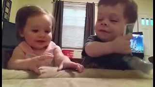 Little Girl Stands Up for Herself Against big Brother - Video