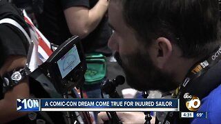 Comic-Con sends critically injured Navy sailor and family to convention