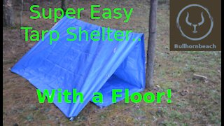 Simple Tarp Shelter with a Floor