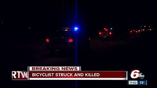 Bicyclist struck, killed by vehicle on Indy's northwest side - Video