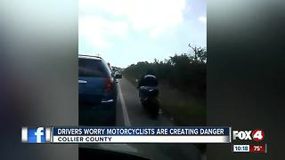 Motorcyclists caught on camera using shoulder to pass congested roads