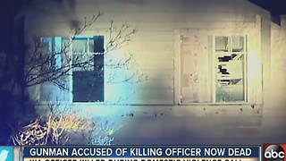 Gunman accused of killing officer now dead - Video