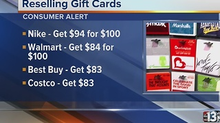 Reselling gift cards