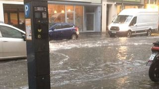 Streets in Cologne Flooded After Thunderstorm Hits City - Video