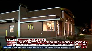 Tulsa Police investigate Midtown McDonalds robbery - Video
