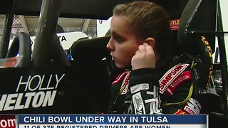 Young, promising driver at Chili Bowl - Video