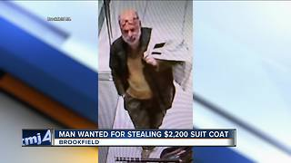 Brookfield police looking for man who stole expensive suit coat from mall store - Video