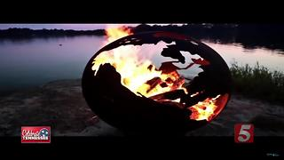Local Man Creates Unique, Beautiful Fire Pits - Video