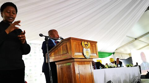 SOUTH AFRICA - Durban - Pres Ramaphosa launch district development plan (Video) (Bj2)