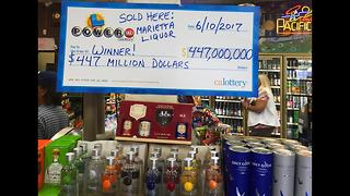 1 winning Powerball ticket sold in California worth $447M