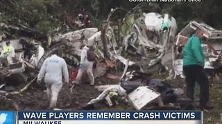Local soccer players in disbelief following Colombia plane crash - Video