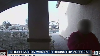 Resident in North Las Vegas fear woman stealing packages - Video