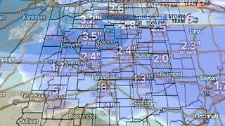 Friday snowfall timing and amounts. - Video
