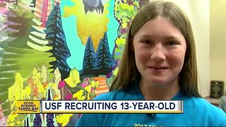 USF recruiting 13-year-old Scripps National Spelling Bee contestant Kaitlin Ryan - Video