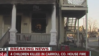 4 children killed, 3 adults hospitalized in Carroll County house fire - Video