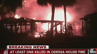 Odessa house fire kills one person, sends another to the hospital - Video