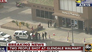 Two people shot at Glendale Walmart - Video