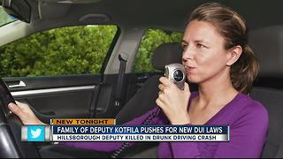 Family of deputy killed in drunk driving crash pushing for new DUI laws - Video