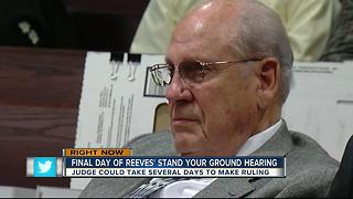 Final day of Reeves' stand your ground hearing - Video