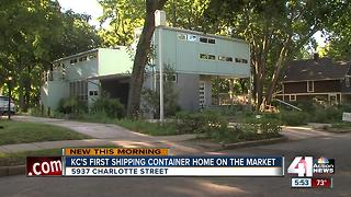 KC's first shipping container home on the market - Video