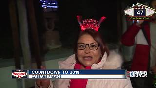 Countdown to 2018 on Las Vegas Strip - Video